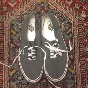 VANS Gray canvas tennis shoes good condition sz 13